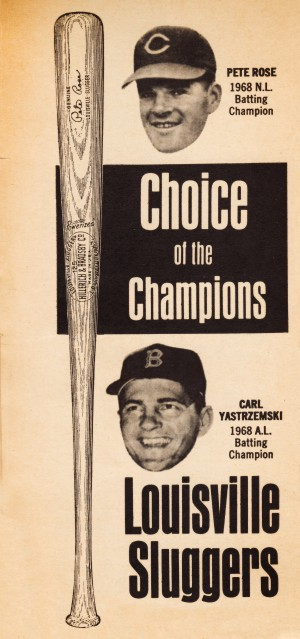 1969 Louisville Slugger Pete Rose Ad by Row One Brand