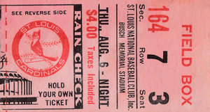 1970 St. Louis Cardinals vs. New York Mets | Row 1 by Row One Brand