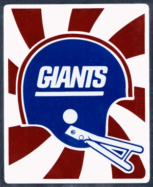 Retro New York Giants Helmet Art by Row One Brand