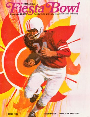 1971 First Fiesta Bowl Program by Row One Brand