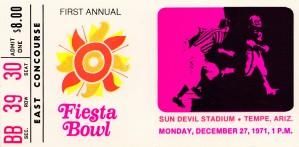 1971 first fiesta bowl florida state arizona state asu sun devils tempe by Row One Brand