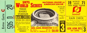 1971 World Series Ticket Stub Wall Art by Row One Brand