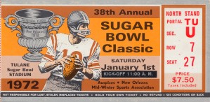 1972 Sugar Bowl Oklahoma Win by Row One Brand