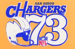 1973 San Diego Chargers Ticket Stub Remix Art | Row 1 by Row One Brand