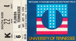 1976 Tennessee Vols vs. Florida Gators by Row One Brand