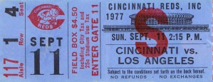 1977 Cincinnati Reds vs. Dodgers by Row One Brand