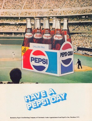 1977 Pepsi Baseball Ad by Row One Brand