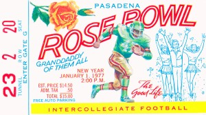 1977 Rose Bowl USC Win by Row One Brand