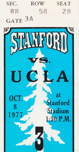 1977 Stanford Cardinal vs. UCLA Bruins   Row 1 by Row One Brand