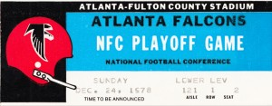 1978 Atlanta Falcons Ticket Stub Art by Row One Brand
