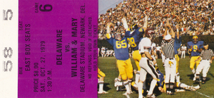 1979 Delaware Blue Hens vs. William and Mary | Row 1 by Row One Brand