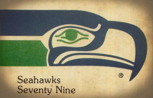 1979 Seattle Seahawks Art by Row One Brand