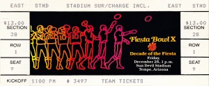1980 fiesta bowl ticket stub penn state champions by Row One Brand