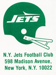 1980 New York Jets Football Art by Row One Brand