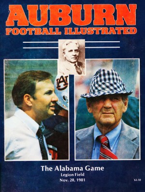 1981 Alabama vs. Auburn Program Cover by Row One Brand