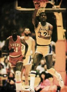 1981 Magic Johnson Basketball Art by Row One Brand