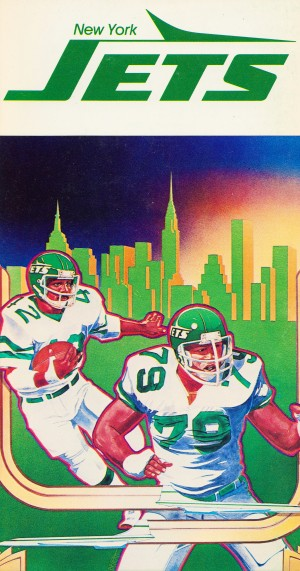 1981 new york jets football art by Row One Brand