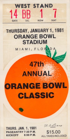 1981 Orange Bowl Oklahoma Win by Row One Brand