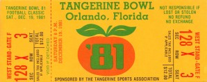 1981 Tangerine Bowl Missouri Win by Row One Brand