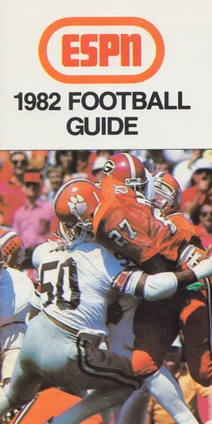 1982 ESPN College Football Guide Poster by Row One Brand