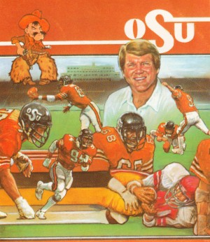 1982 Jimmy Johnson OSU Cowboys Poster by Row One Brand