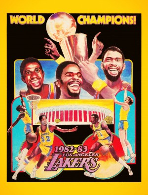 1982 LA Lakers Champion Poster by Row One Brand