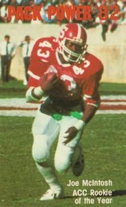 1982 NC State Football Joe McIntosh Poster by Row One Brand