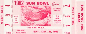 1982 Sun Bowl North Carolina Win by Row One Brand