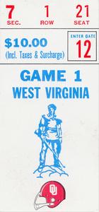1982 West Virginia vs. Oklahoma | Row 1 by Row One Brand