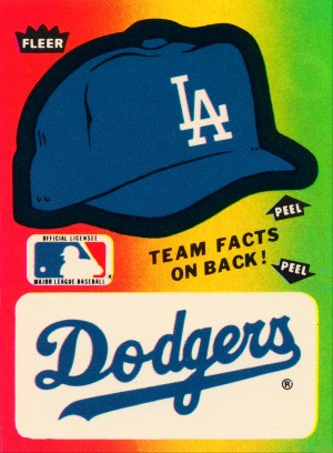 1983 fleer baseball stickers la dodgers ballcap art by Row One Brand