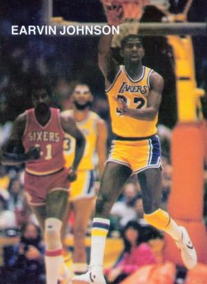 1983 Magic Johnson LA Lakers by Row One Brand