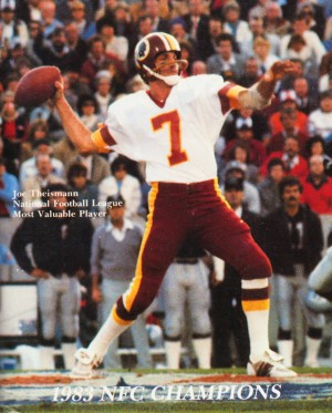 1983 Washington Joe Theismann Poster by Row One Brand