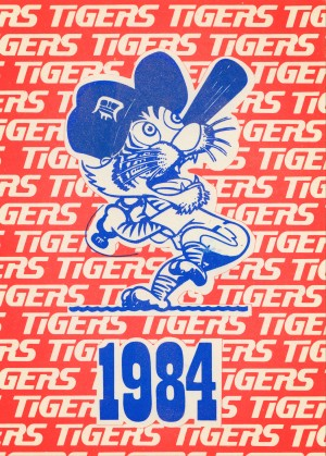 1984 Detroit Tigers Baseball Poster by Row One Brand