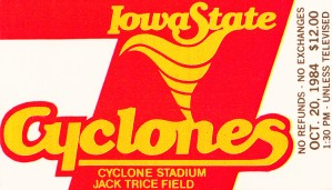 1984 Iowa State Ticket Stub Art by Row One Brand