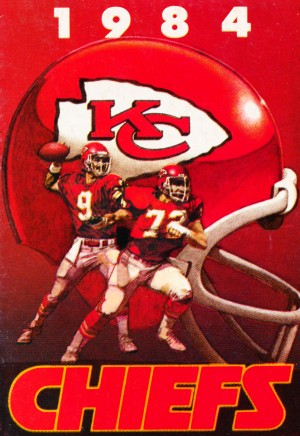 1984 Kansas City Chiefs Football Poster by Row One Brand