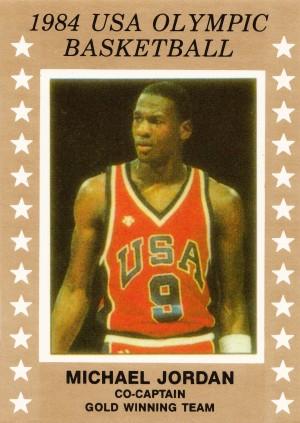 1984 USA Olympic Basketball Michael Jordan by Row One Brand