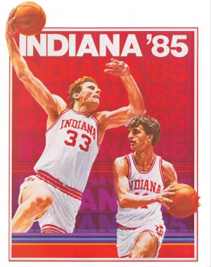 1985 Indiana Hoosiers Basketball Art by Row One Brand