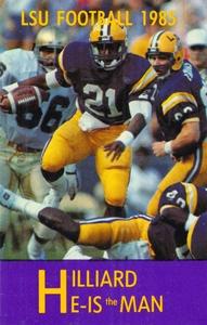 1985 LSU Tigers Football Dalton Hilliard Poster by Row One Brand