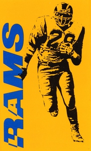 1986 LA Rams Football Poster by Row One Brand