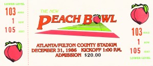 1986 Peach Bowl Virginia Tech Win by Row One Brand