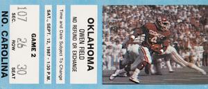 1987 Oklahoma Sooners vs. North Carolina Tar Heels | Row 1 by Row One Brand