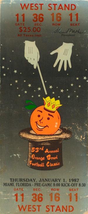 1987 orange bowl oklahoma sooners spencer tillman mvp by Row One Brand