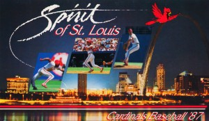 1987 St. Louis Cardinals Baseball Art by Row One Brand