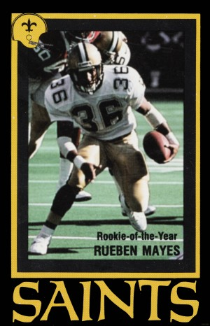 1988 New Orleans Saints Reuben Mayes Poster by Row One Brand