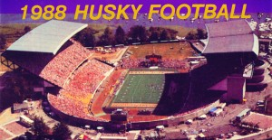 1988 Washington Husky Stadium Art by Row One Brand