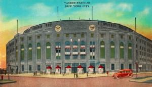 1935 Vintage New York Yankees Stadium Art by Row One Brand