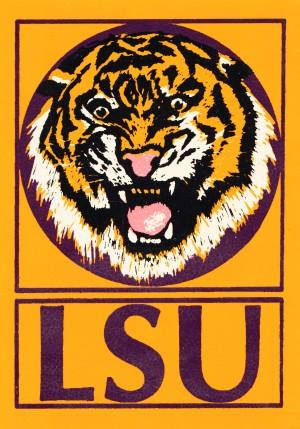 LSU Tigers Retro Print by Row One Brand