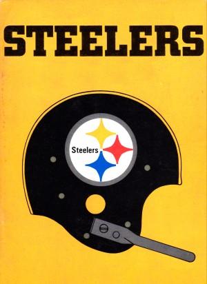 1968 Pittsburgh Steelers Helmet Art by Row One Brand