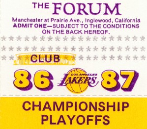 1987 Lakers Championship Playoffs by Row One Brand
