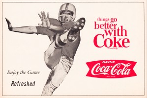 vintage coke football ads by Row One Brand